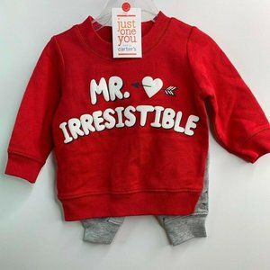 Carter's Just One You 3M Mr. Irresistible Red/Gray